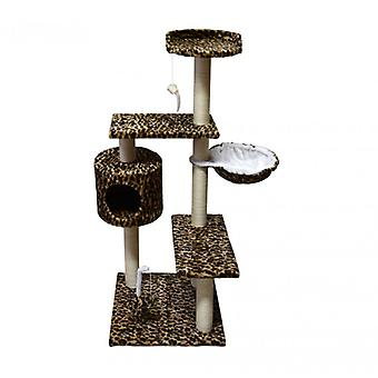 Luckypet Graffiatoio Cuccia Brown Cat Beige Sisal Gym Cats 123x48x44