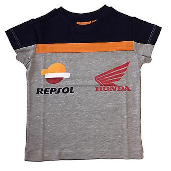 Repsol Honda Kids Orange Tape T-Shirt | Grey