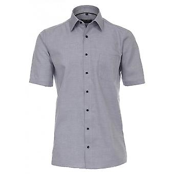CASA MODA Casa Moda Fine Rib Formal Short Sleeve Shirt