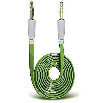 AUX-Cable, flat-100cm (green)