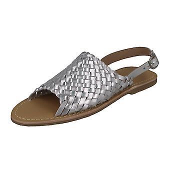 Damer läder kollektion väva vamp sandaler F00188