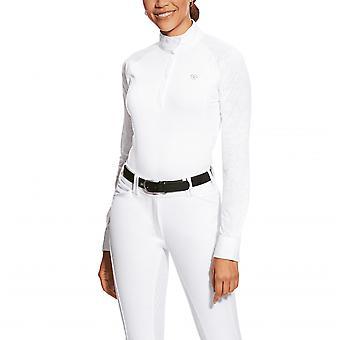 Ariat Womens Marquis Vent Show Shirt - White Volte