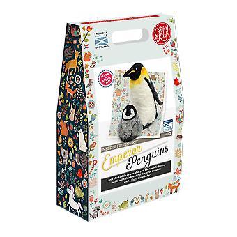 Kit de feutre d'aiguille d'aiguille d'empereur de pingouins