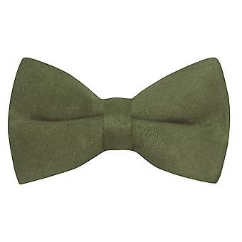 Luksusowa ciemna Oliwka Zielona zamszowa mucha