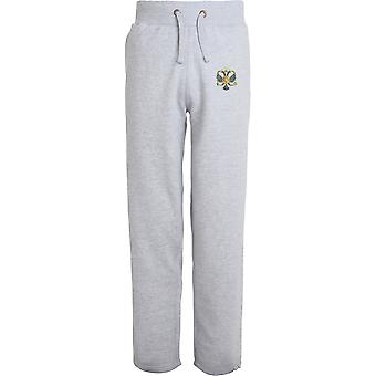 1. dronninger Dragoon Guards QDG-licenseret British Army broderet åbne hem sweatpants/jogging bunde