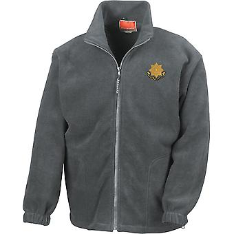 Regimiento East Yorkshire - Chaqueta de fleece de peso pesado bordado del ejército británico con licencia