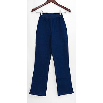 Denim & co. Petite leggings PXXS strekk støvel cut blå A01724
