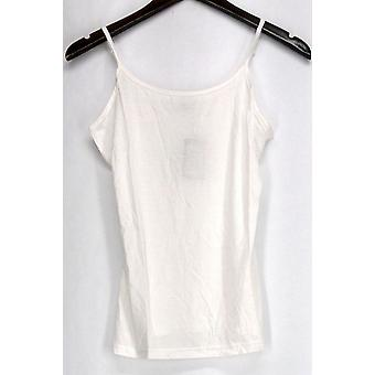 Agiato Top Extra Long Basic Camisole White Spaghetti Strap Womens