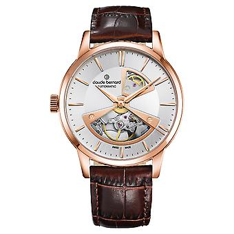 Claude bernard sophisticateds Swiss Automatic Analog Man Watch with Cowskin Bracelet 85017 37R AIR2