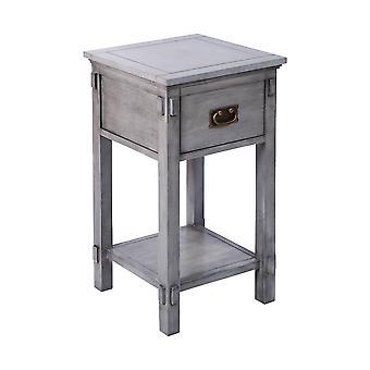 Grey cheboygan 1-drawer accent table in grey stein world