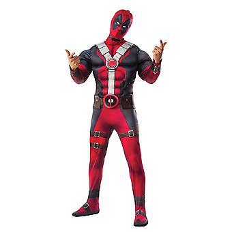 Deadpool Muscle rinnassa aikuisten Halloween puku