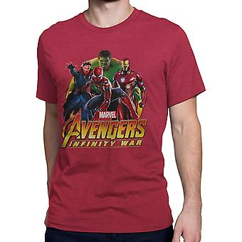 Avengers Infinity War team Spider-Man mænd ' s T-shirt
