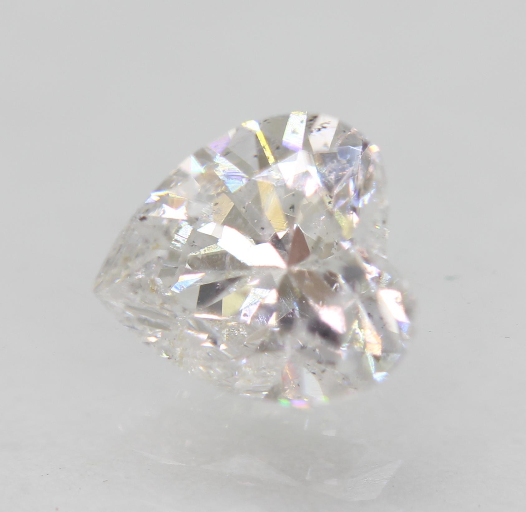 Certified 1.02 Carat D VS2 Heart Enhanced Natural Loose Diamond 6.43x6.08mm 2VG