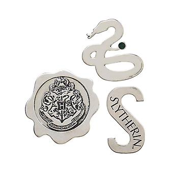 Harry Potter Lapel Pin House Slytherin Emblems nowy oficjalny metal 3 Pack