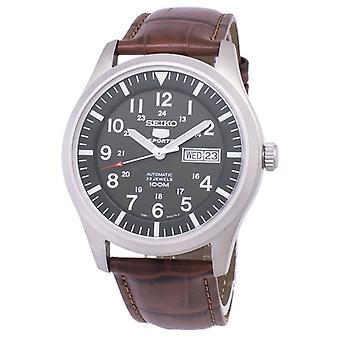 Seiko 5 urheilu automaattinen suhde ruskea nahka Snzg09k1-LS7 miesten ' s Watch