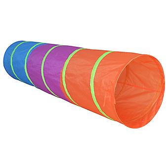 Charles Bentley Bright Pop Up Play Tunnel Indoor Outdoor W180 x H46cm Polyester