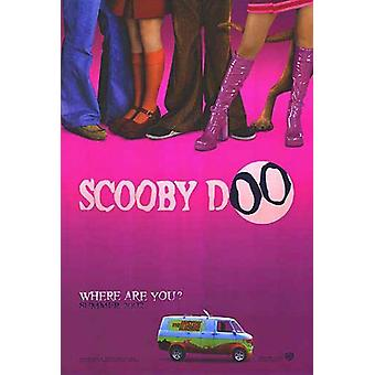 Scooby Doo (Advance Double-Sided Pink) Original Cinema Poster