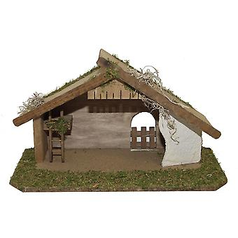 Nativity scene Christmas crib stall AARON wood handmade from Bavaria for figures up to 12 cm