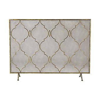 Agra fire screen in antique gold