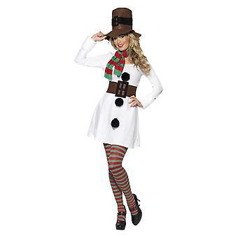 Womens Miss Schneemann Weihnachten Kostüm Kostüm