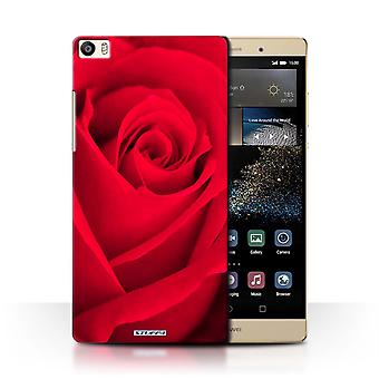 STUFF4 Case/Cover for Huawei P8 Max/Red/Rose