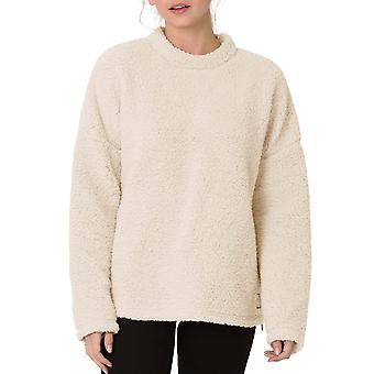 Animal Womens Cuddle Long Sleeve Crew Neck Fleece Jumper Sweater Top - White