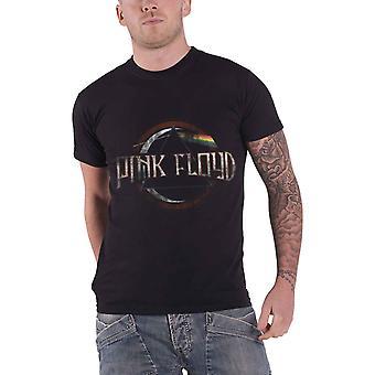 Rosa oficial de logotipo de banda Floyd T camisa Mens Dark Side de The lua Vintage álbum