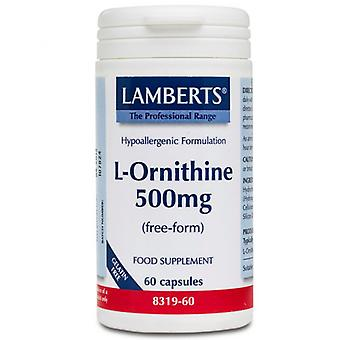 Lamberts L-Ornithine 500mg caps 60 (8319-60)