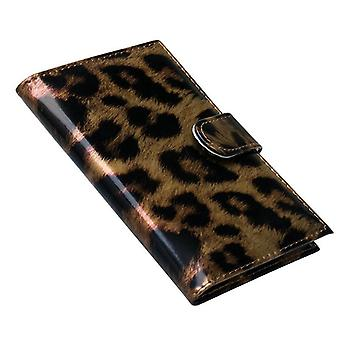 Passport case, Leopard-Brown