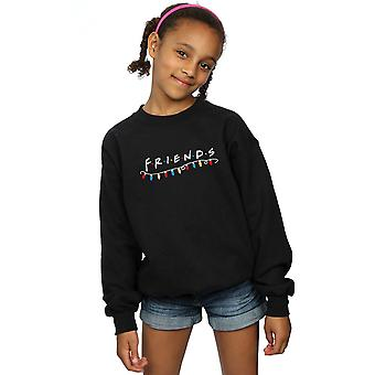 Friends Girls Christmas Lights Sweatshirt