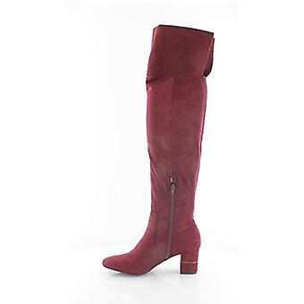 نوفا النسائي الفاني مغلقة إصبع القدم الركبة أحذية عالية أزياء