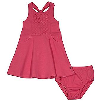 ناوتيكا بيبي بنات منقوشة بلا أكمام اللباس، الدانتيل الوردي مشرق، 18 شهرا
