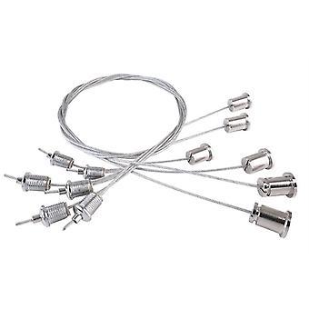 Zawieszenie linowe 6-częściowy zestaw 1,5 m max dla panelu LED Pro