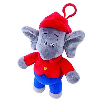 Jazwares Benjamin Blumchen the Elephant Plush Toy with Sound (Red & Blue)