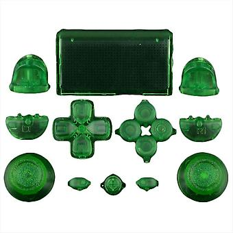 Zedlabz full replacement button set mod kit for 1st gen sony ps4 controllers - transparent green