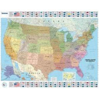 USA Political  Michelin rolled amp tubed wall map Encapsulated  Wall Map by Michelin