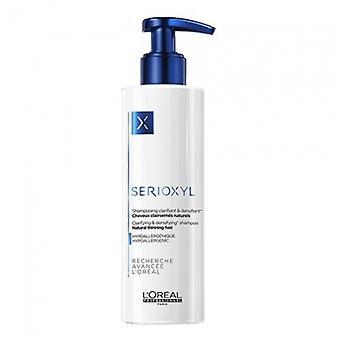 Shampoo serioxyl densifying e esclarecendo a cor do cabelo s Clairsem s