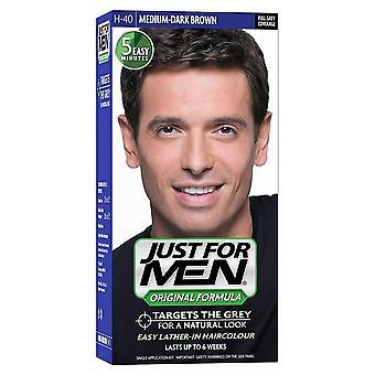 Apenas para homens 3 x apenas para homens cor de cabelo - H40 Médio Dark Brown