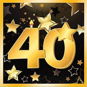 40th Birthday Napkins 13