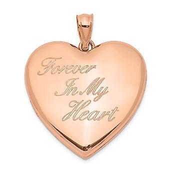 925 Sterling Silber gravierbare Rose Ton für immer in meiner Liebe Herz Ash Halter Herz Foto Medaillon Anhänger Halskette Schmuck