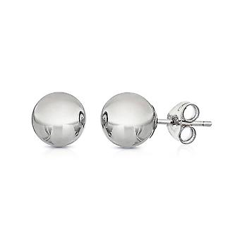 Ah! Jewellery 7mm Sterling Silver Round Studs, Stamped 925