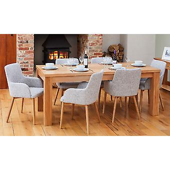 Baumhaus Bundle Mobel COR04E Table With 6 x COR03M Chairs