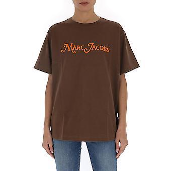 Marc Jacobs C6000039200 Women's Brown Cotton T-shirt