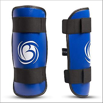 Bytomic performer shin guards blue/white
