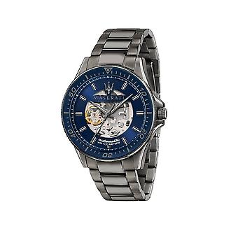 Maserati - Armbanduhr - Herren - SFIDA 44MM AUTO BLUE DIAL BR GUN - R8823140001