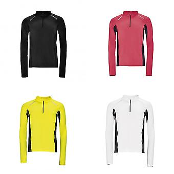 SOLS Mens Berling lange mouw Zip Neck sport Top