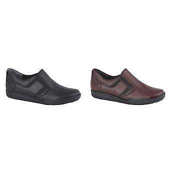 Mod Comfys Womens/dames lederen Twin Gusset casual schoen