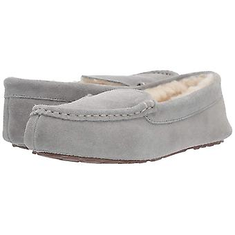 Amazon Essentials Women's lederen Moccasin slipper, licht grijs, 8 M ons