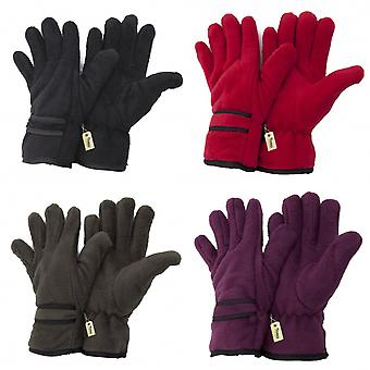 FLOSO Ladies/Womens Thinsulate Polar Fleece Thermal Gloves (3M 40g)