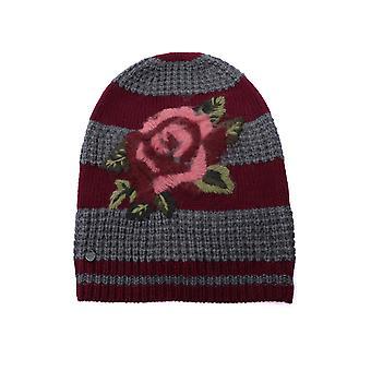 Twin-set 192ta441l04199 Women's Burgundy/grey Acrylic Hat